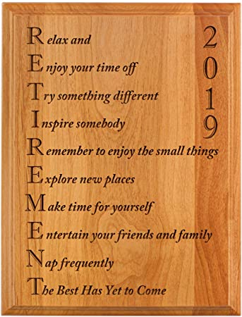 Amazon.com: ThisWear - Placa de madera de roble grabada con ...
