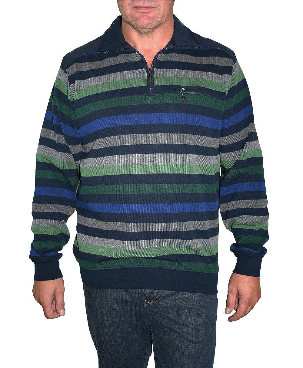 HS Navigazione Sweatshirt Langarm 10523 0005 Marine grün grau gestreift