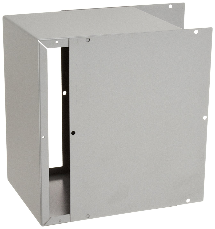 BUD Industries CU-879 Steel Utility Cabinet, 8'' Width x 10'' Height x 7'' Depth, Natural Finish