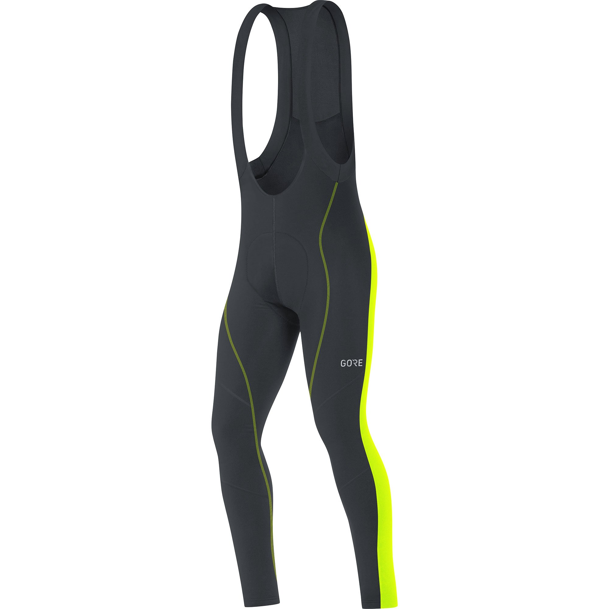 Gore Men's C3 Thermo Bib Tights+, Black/neon Yellow, S