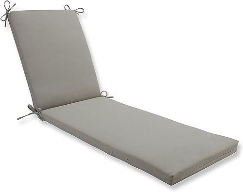 Pillow Perfect Outdoor Indoor Solar Linen Chaise Lounge Cushion 80x23x3,Solar Linen Beige