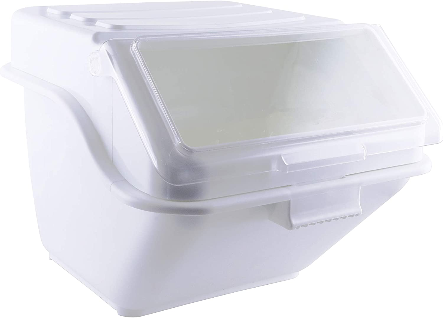 Caspian 12.6 gallons/ 200 cups Shelf-Storage Ingredient Bin with Scoop and Sliding Lid Commercial Food Storage for Kitchen,1 Piece (12.6 gallons/ 200 cups.)