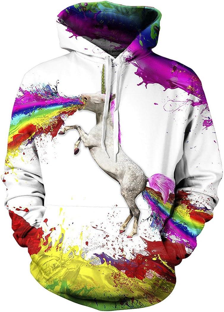ALICECOCO Sweater Capuche Xmas Sweater Homme Femme avec Manches Longues 3D Hoodie Hauts Veste Galaxy Imprim/é FR S-3XL