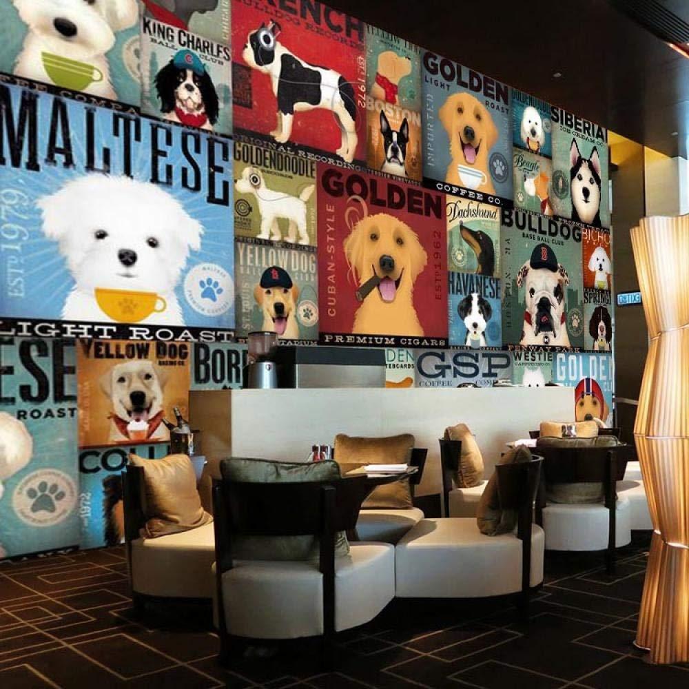 Papel tapiz de fondo del sof/á/_3d tela de pared de dibujos animados perro tienda de mascotas sala de estar habitaci/ón de los ni/ños papel tapiz ni/ño do Papel Pintado Fotogr/áfico Fotomural-250cm/×170cm