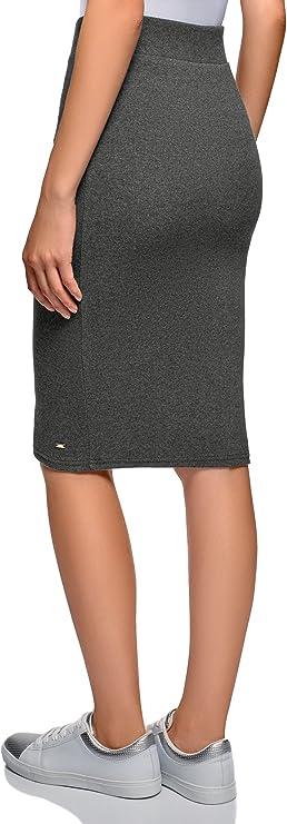 oodji Ultra Mujer Falda Midi de Punto: Amazon.es: Ropa y accesorios