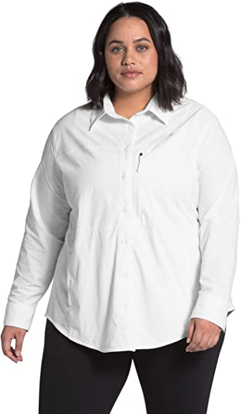 The North Face Womens Plus Outdoor Trail Long Sleeve Shirt ...
