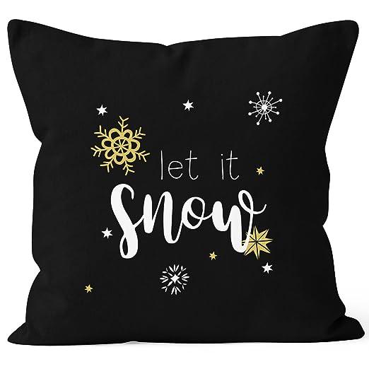 Funda de cojín de Autiga® con diseño de Navidad, Let It Snow ...