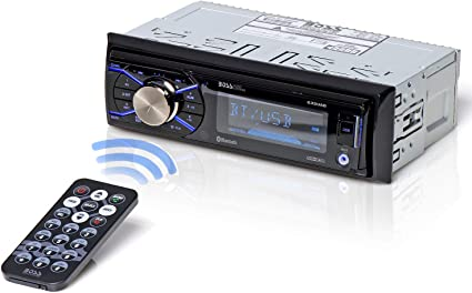AM//FM Radio Receiver BOSS Audio Systems 616UAB Multimedia Car Stereo Single Din LCD Bluetooth Audio and Hands-Free Calling MP3//USB Aux-in Built-in Microphone