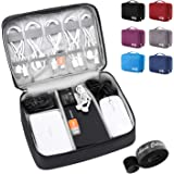 Electronic Organizer Travel Universal Cable Organizer Electronics Accessories Cases for Cable, Charger, Phone, USB, SD…