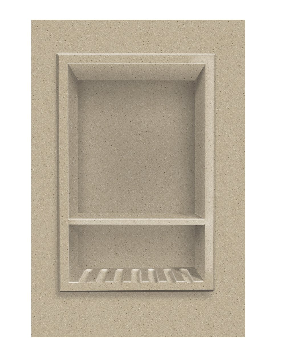 Transolid ACCESS0003-B2 Decor 10 x 15-Inch Recessed Shampoo Caddy, Matrix Sand by Transolid
