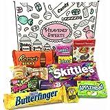 Boîte American Candy   Mini Coffret Cadeau Américain Bonbons, Chocolat, Jelly Belly Beans   Sélection de confiseries chocolats authentiques   Boîte de 12 pièces