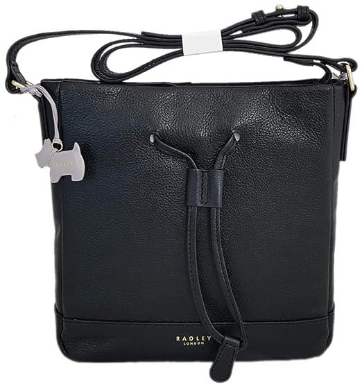 da046c220e773 RADLEY 'Keats Grove' Black Leather Across Body Bag - RRP £159: Amazon.co.uk:  Clothing