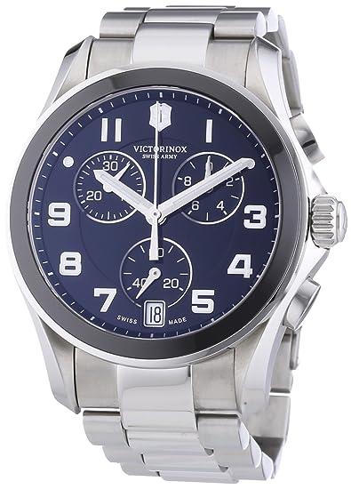 Victorinox Swiss Army 241544 - Reloj cronógrafo de cuarzo para hombre con correa de acero inoxidable
