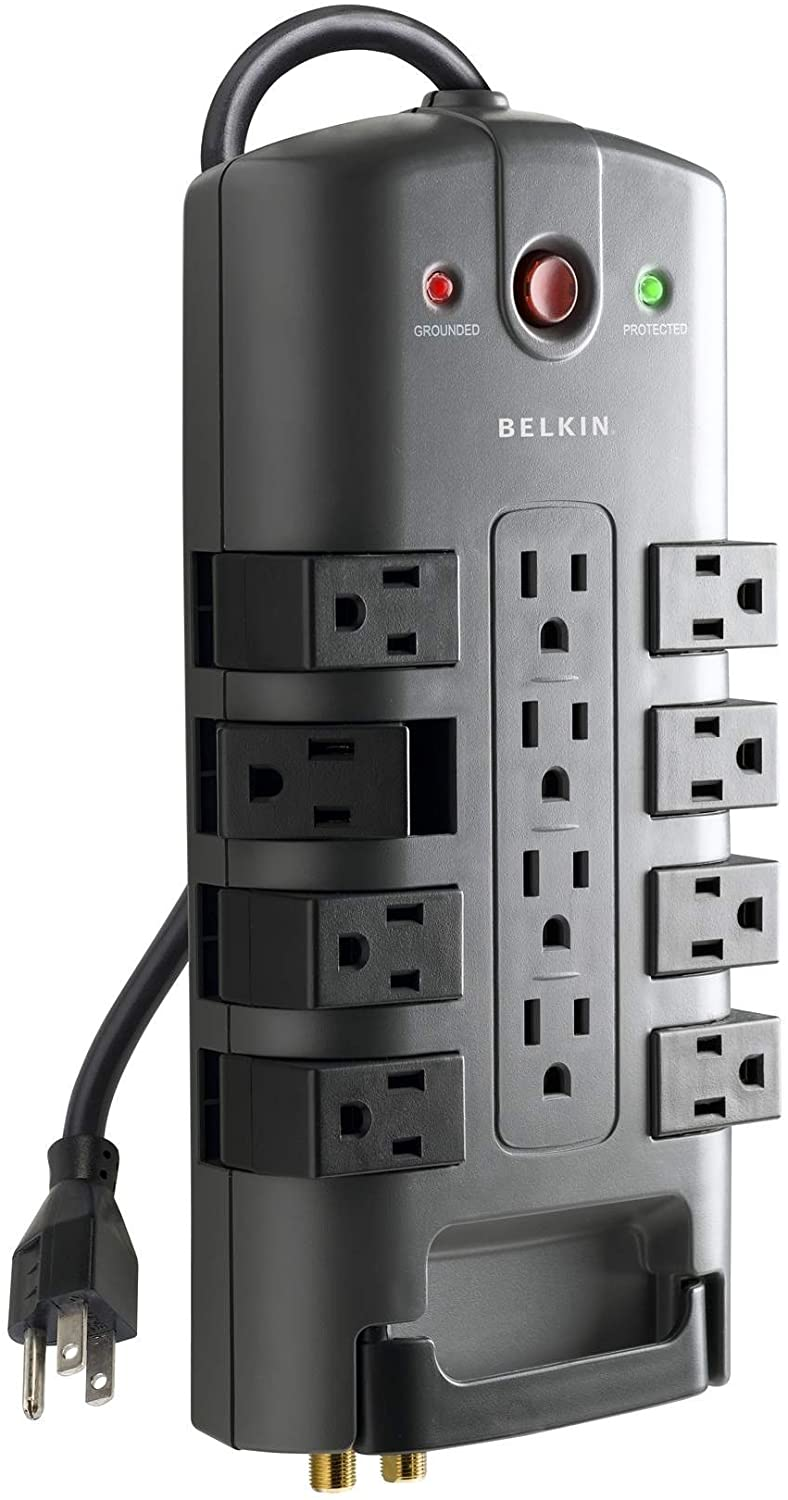 Belkin 12- Outlet Pivot-Plug Power Strip Surge Protector