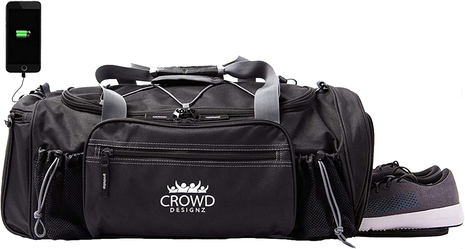 Smart Travel Duffel Bag Gym Bag with Shoe Compartment