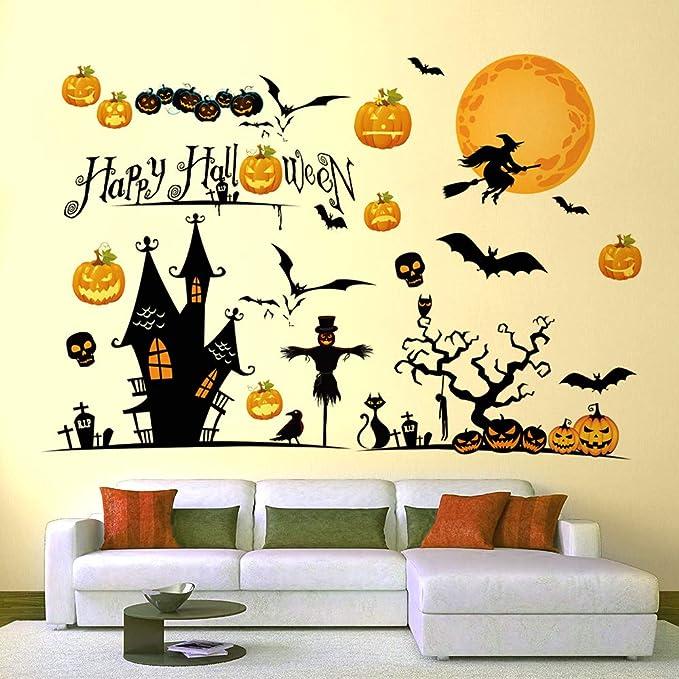 AIZESI Halloween Window Sticker Decorations Halloween Window Clings for Glass Windows Halloween Decals for Windows Glass Walls