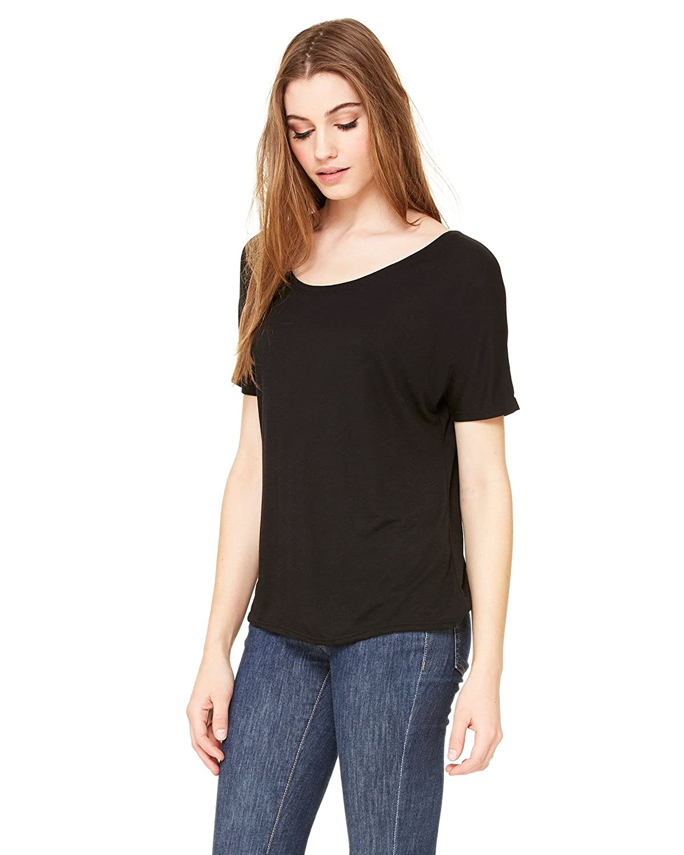 f8b80a619 Bella + Canvas Womens Slouchy T-Shirt (8816) Black: Amazon.ca: Clothing &  Accessories