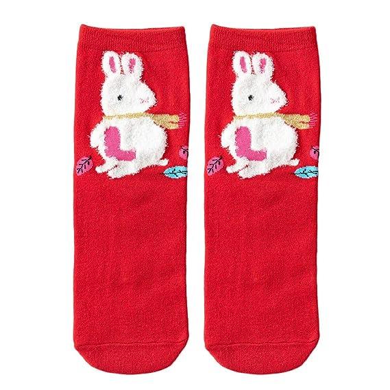 ZARLLE_Calcetines Calcetines antideslizantes de algodón, algodón de las mujeres de navidad imprimir calcetines antideslizantes más