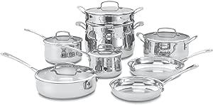Cuisinart 44-13 Contour Stainless 13-Piece Cookware Set
