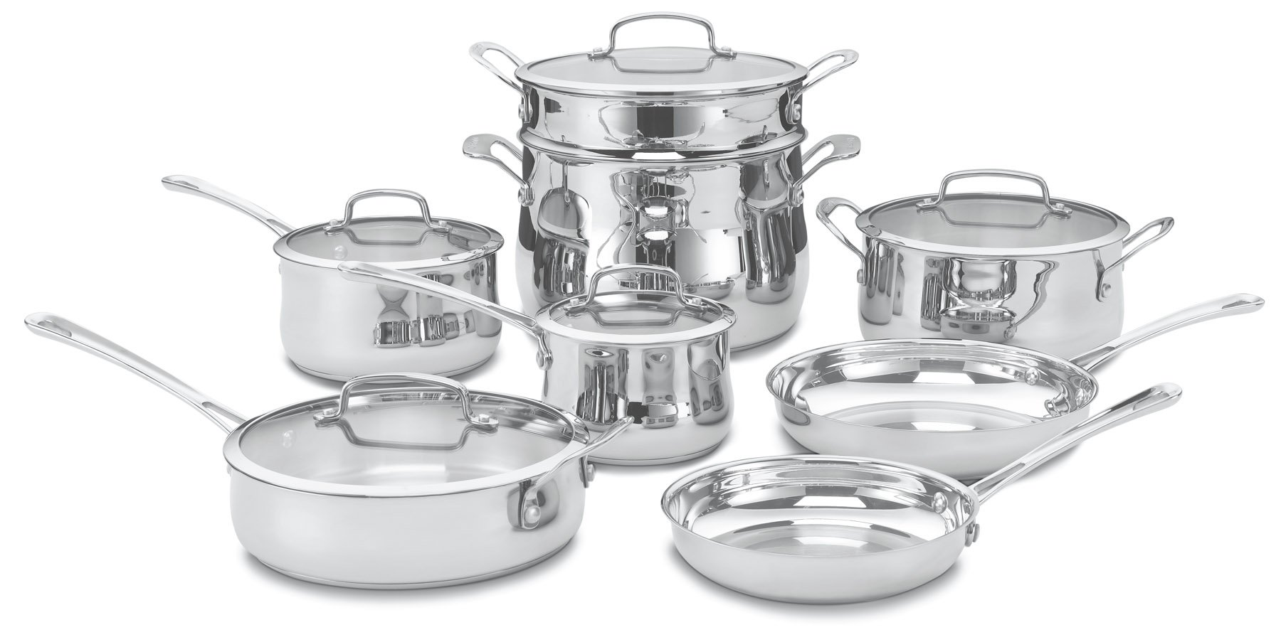 Cuisinart 44-13 Contour Stainless 13-Piece Cookware Set by Cuisinart (Image #1)