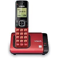 VTech Teléfono DECT 6.0con identificador de Llamadas/Llamada en Espera, Plateado/Negro con 2Auriculares inalámbricos, 1 Handset, Rojo