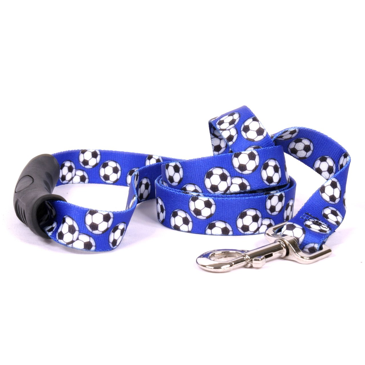 Yellow Dog Design Soccer Balls EZ-Grip Dog Leash-with Comfort Handle-Small/Medium-3/4 and 5 feet (60'') Long by Yellow Dog Design