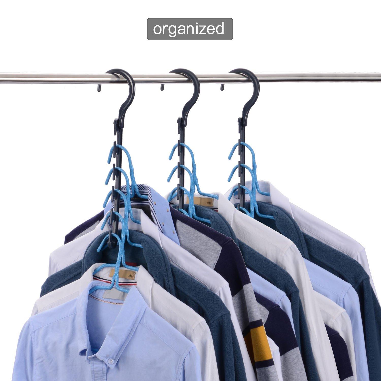 mit 5 Schlitze 20 St/ück//Paket platzsparende Kleiderb/ügel//Mehrfachkleiderb/ügel//Garderobe Organizer, Balala Magische Kleiderb/ügel//Raumsparb/ügel//Kleiderb/ügelhalter aus ABS Kunststoff