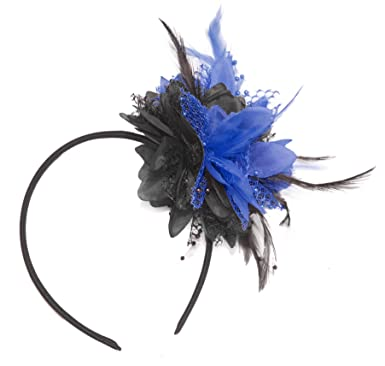 Image Unavailable. Image not available for. Colour  Caprilite Black and Royal  Blue Fascinator ... c1f922f4d54