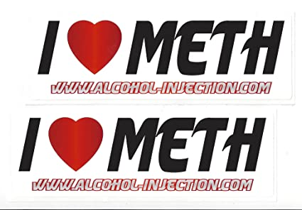 Amazon com: I Love Meth Racing Decals Stickers 8-1/2 Inches Long