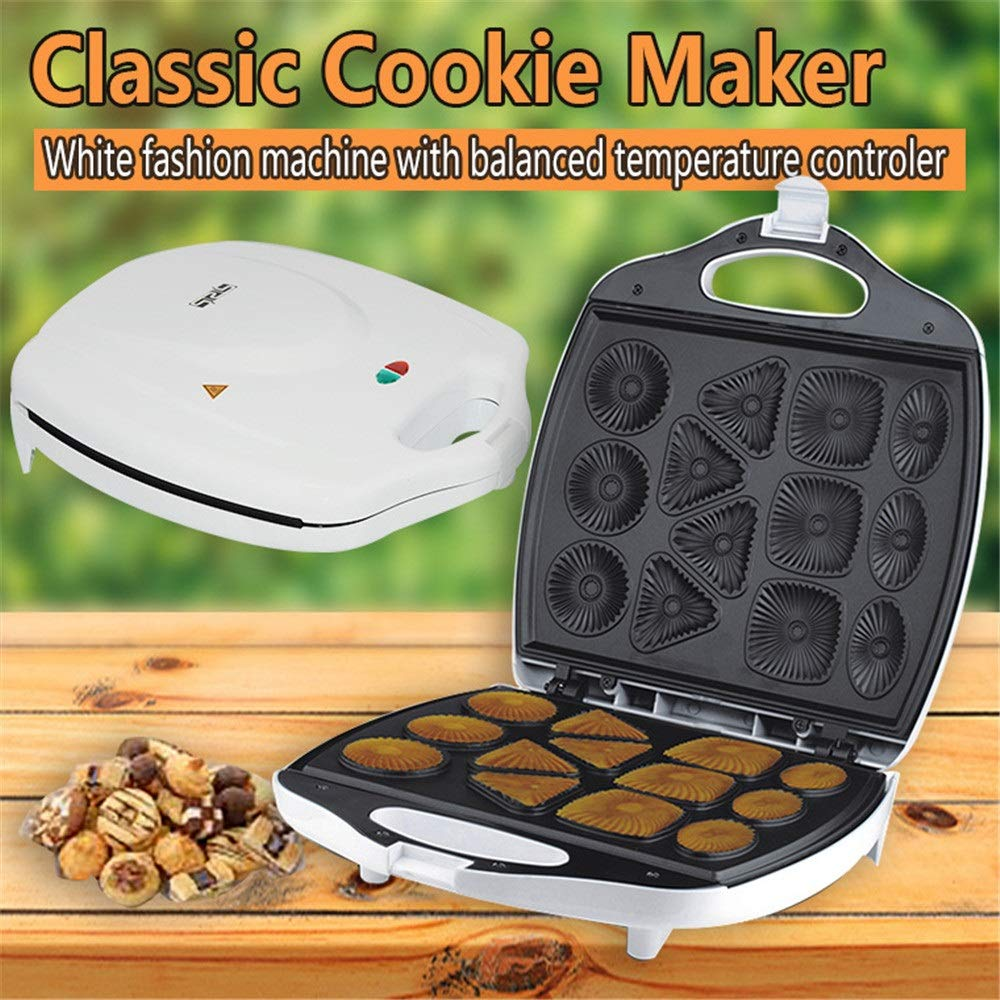Crepe Maker Non-Stick Plates Cake Maker Cookie Baker Iron Baking Cookie Machine For Kitchen Electric Non-Stick (Color : White, Size : 34x29.5x10cm) by DEPRQ