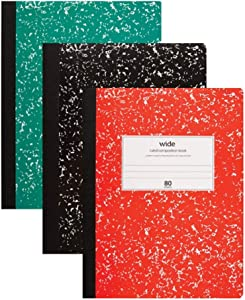 Office Depot Composition Book Wide Ruled 80 Sheets Pack of 3 Red Green Black