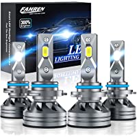 $64 » Fahren 9005/HB3 High Beam 9006/HB4 Low Beam LED Headlight Bulbs Combo, 20000 Lumens…