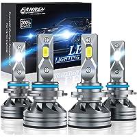 $64 » Fahren 9005/HB3 High Beam 9006/HB4 Low Beam LED Headlight Bulbs Combo, 20000 Lumens…