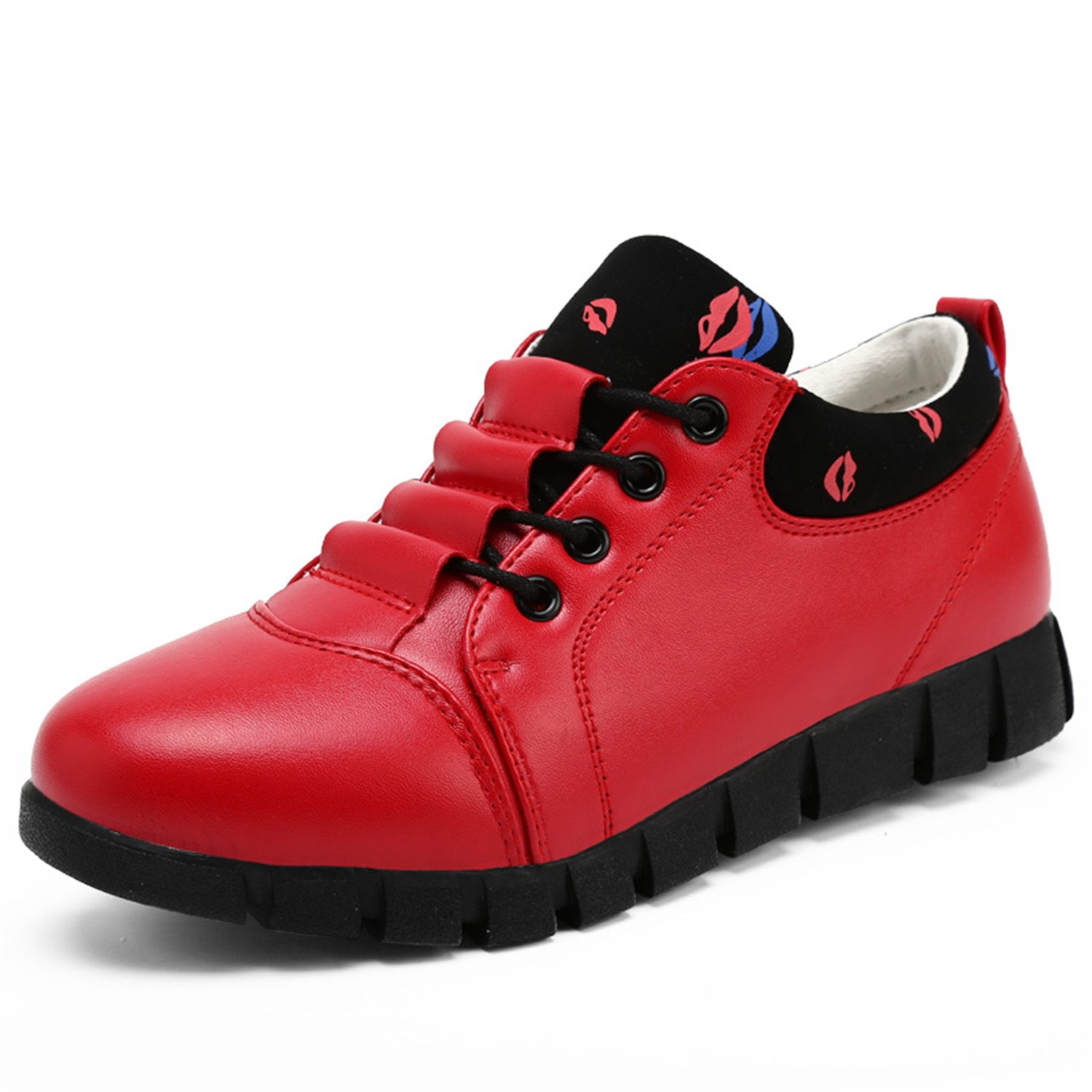 Amazon.com | Mildred Jones Women Flats Leather Zapatillas Mujer Shoes Woman Soft Womens Casual Red Shoe | Flats