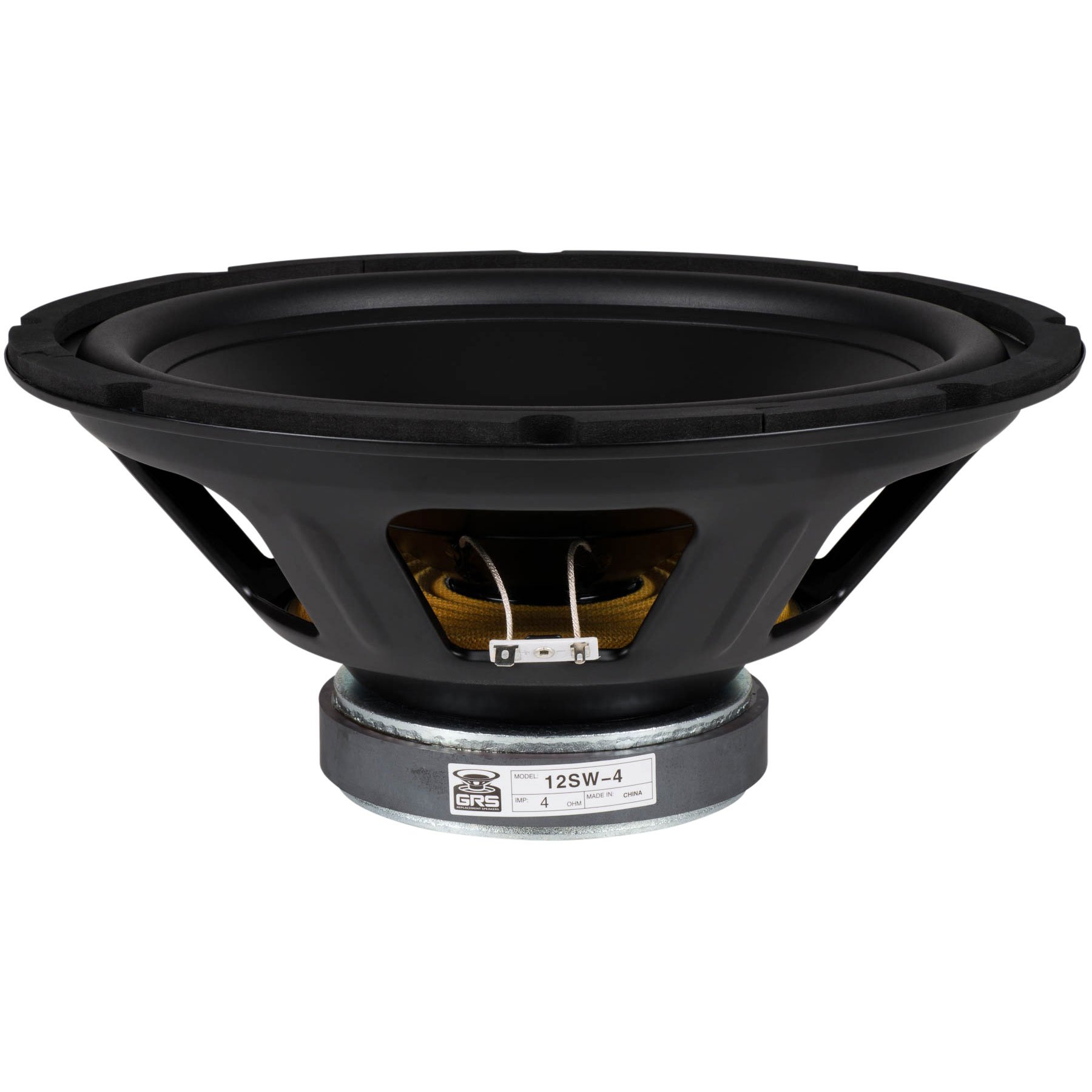 GRS 12SW-4 12'' Poly Cone Subwoofer 4 Ohm by GRS