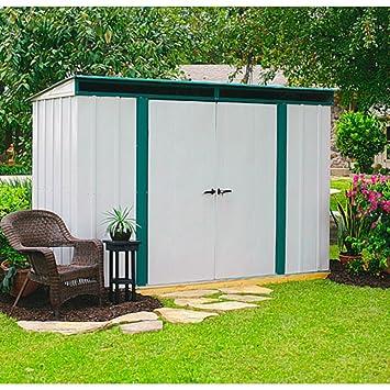 Arrow metal de dispositivo de hogar Euro Lite 104 Jardín Casa Caseta 3, 8 m² altweiss de color verde: Amazon.es: Jardín