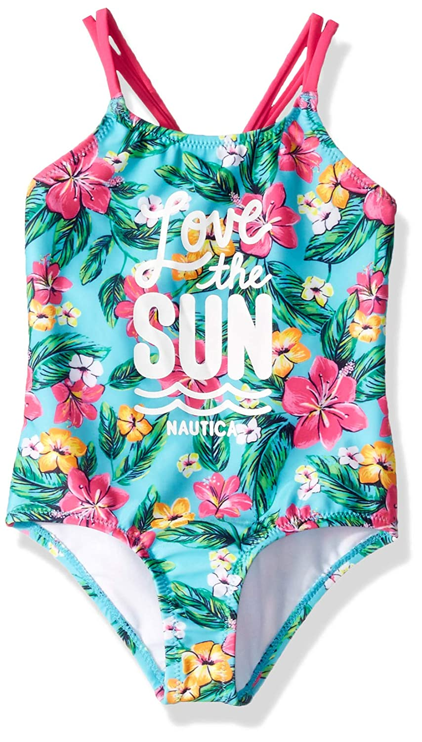 Floral Blue 2T Nautica Toddler Girls One Piece Swimsuit