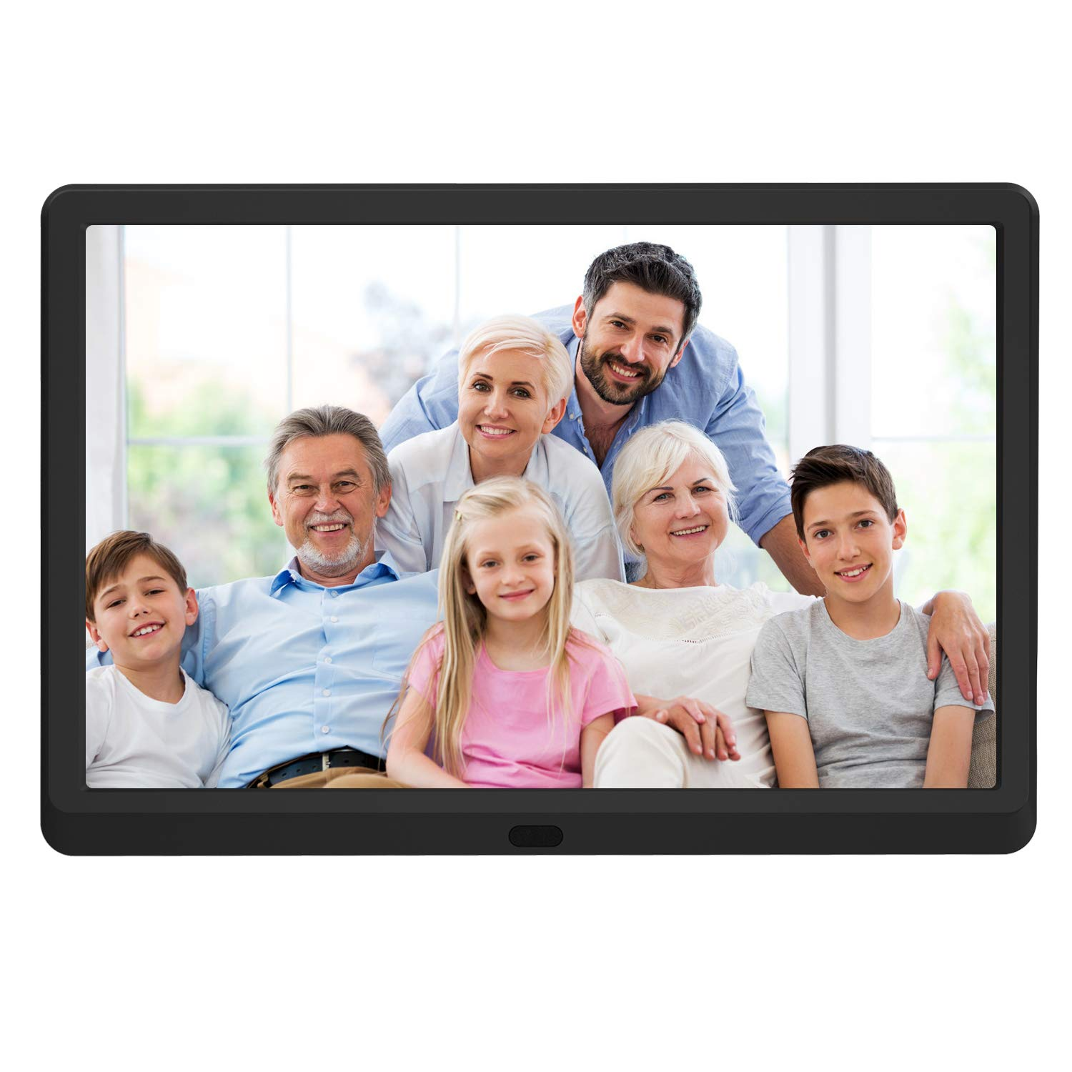 10 inch Digital Picture Frame with 1920x1080 IPS Screen Digital Photo Frame Adjustable Brightness, Photo Deletion, Timing Power On/Off, Background Music Support 1080P Video, SD Card and USB by Atatat