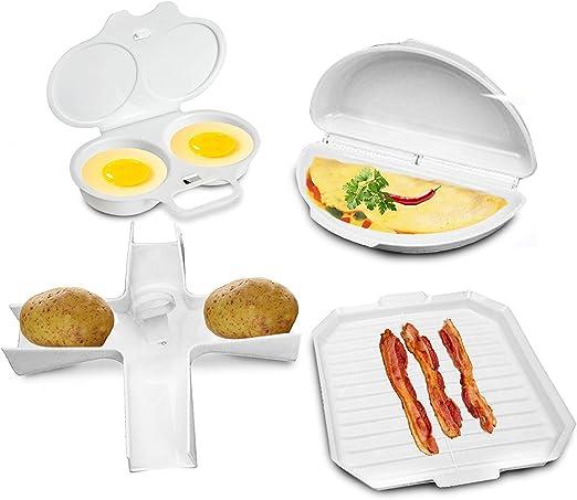 4 pcs microondas utensilios de cocina Set – Bacon cocina rack ...