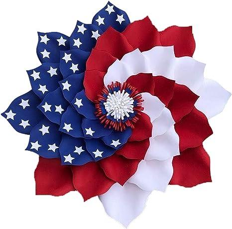 Memorial Day 4th of July Labor Day American Flag Decor Summer Door Hanger Patriotic Door Hanger Eagle Door Hanger Veterns Day