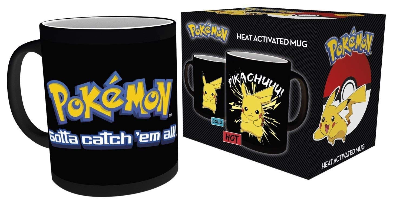 GB eye LTD MGH0008 , Pokemon, Pikachu, Heat Changing Mug, Wood, Multi-Colour, 15 x 10 x 9 cm