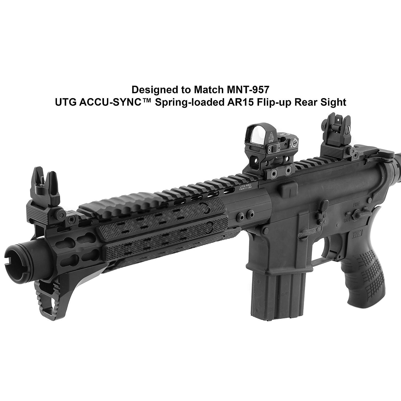 UTG ACCU-SYNC Spring-Loaded AR15 Flip-up Front Sight Black