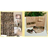 Licensed Realtree Max 4 Camo Shower Curtain U0026 Towel Set Bathroom Accessory  Gift Set