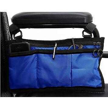 Funda para silla de ruedas con asa de transporte lateral Tamaño libre azul: Amazon.es: Hogar