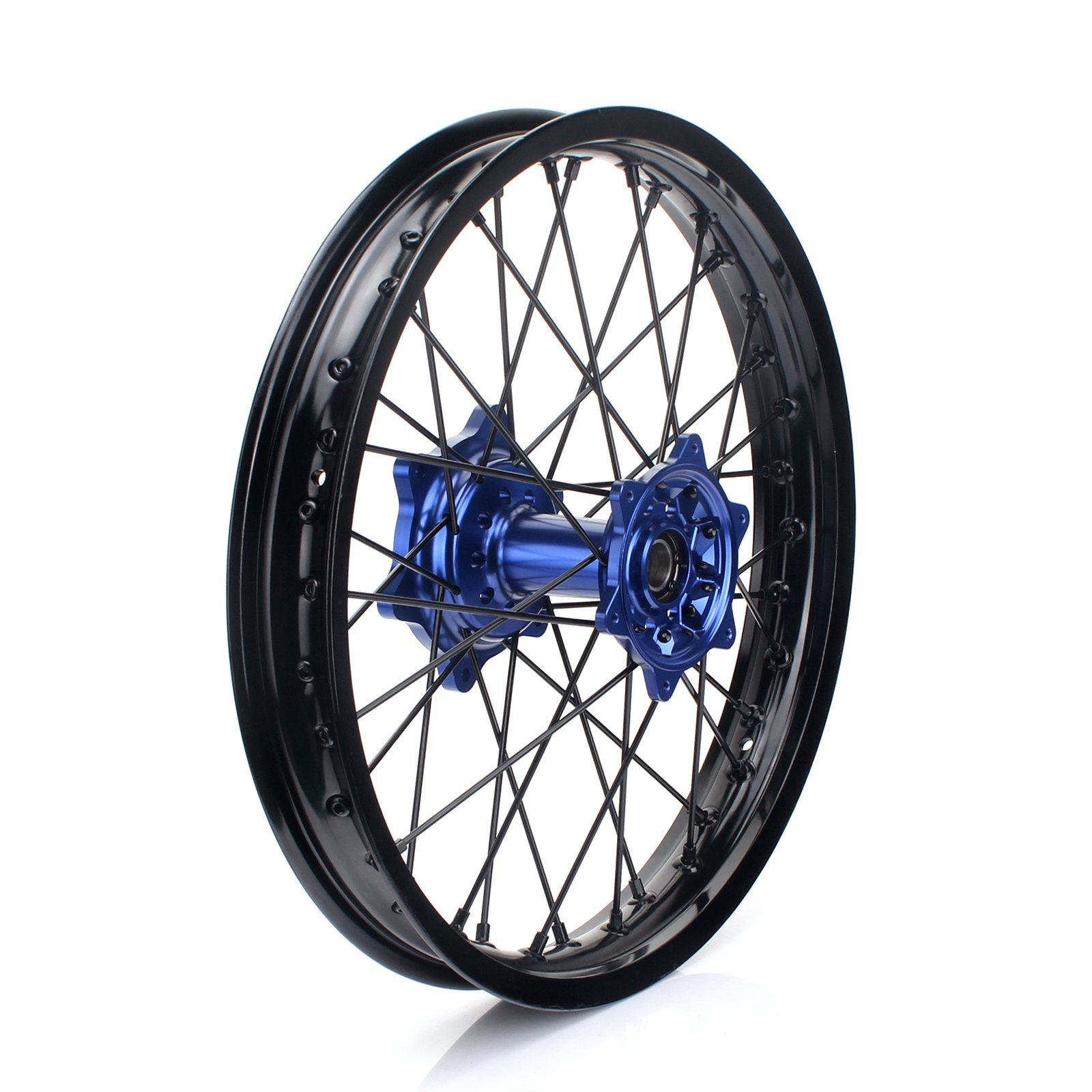 TARAZON 18'' MX Rear Complete Wheel Set Rim Spokes Blue Hub for Yamaha YZ250F YZF250 YZ450F YZF450 2009-2017 by TARAZON (Image #1)