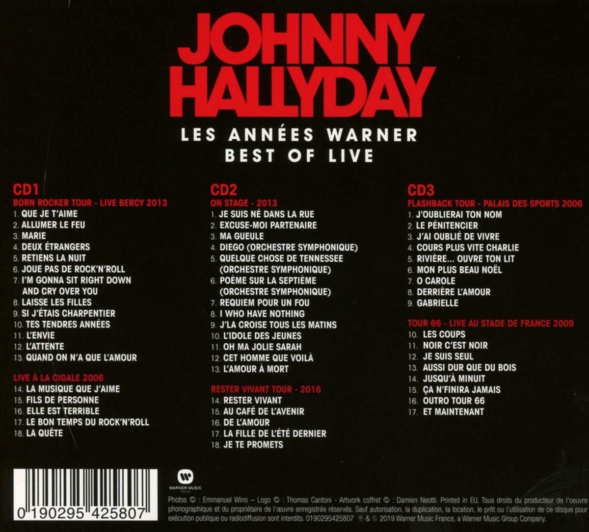 Amazoncom Best Of Johnny Hallyday 3cd Music