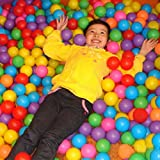 Catnew 50pcs Secure Non-toxic Baby Kid Pit Toy Swim Fun Colorful Soft Plastic Ocean Ball