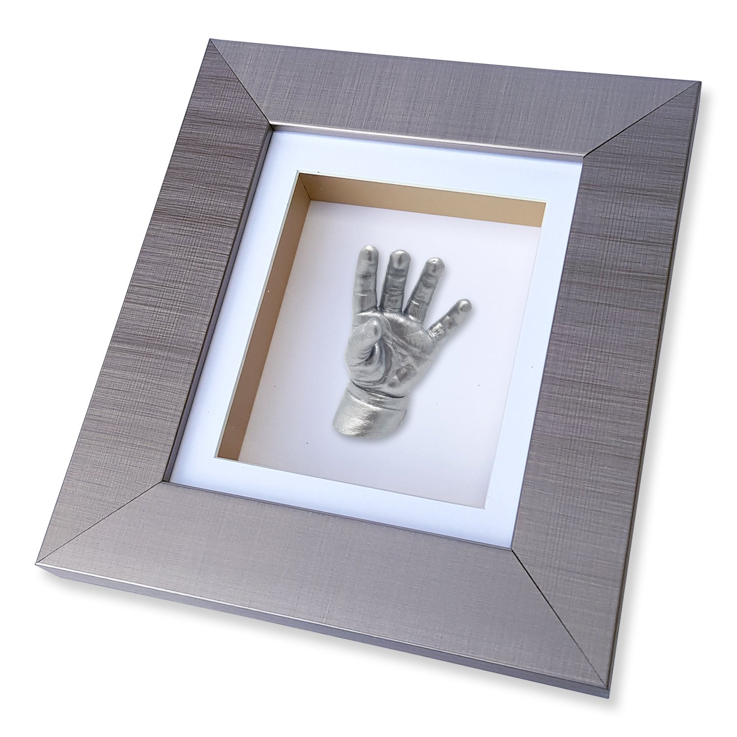Baby & Toddler 3D Hand & Foot Casting Kit with Frame - 23.5cm x 21cm (Oak) Baby Casts & Prints