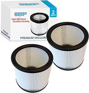 HQRP Cartridge Filter 2-Pack compatible with Shop-Vac SL16-575A SS11-450 SS12-300A SS14-350A SS14-550A SS14-600C Vacuum Cleaner