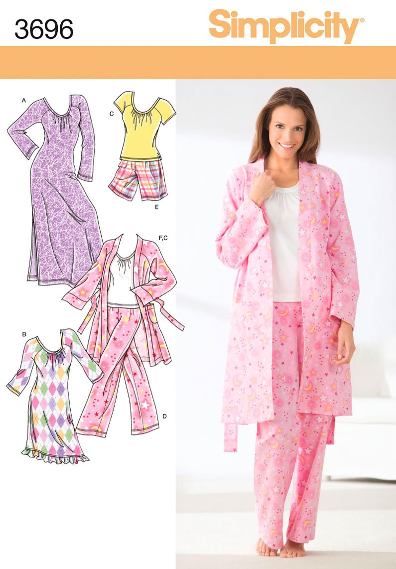 Robe Sewing Pattern Magnificent Decorating